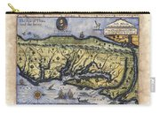 Historical Map Hand Painted Drake Virginia Carry-all Pouch