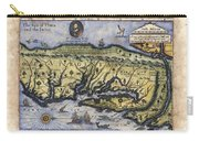 Historical Map Hand Painted Italy Vintage Carry-all Pouch