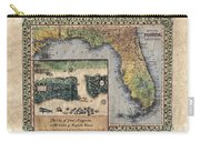 Historical Map Hand Painted St. Augustine Carry-all Pouch