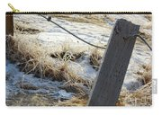 Hoar Frost On A Fence Along Turnagain Arm On The Seward Highway Alaska Carry-all Pouch