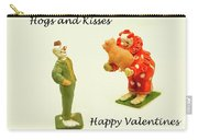 Hogs And Kisses Clown Valentines Carry-all Pouch