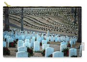 Holiday Wreaths At National Cemetery Carry-all Pouch by Tom Singleton