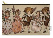 Hollyhocks, Victorian Card Carry-all Pouch