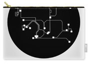 Hong Kong Black Subway Map Carry-all Pouch