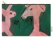 Horse And A Rabbit Carry-all Pouch