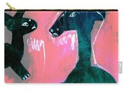 Horse And Rabbit On Pink Carry-all Pouch