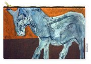 Horse On Orange Carry-all Pouch