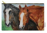 Horses In Oil Paint Carry-all Pouch