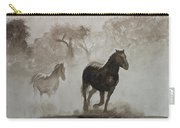 Horses In The Mist Carry-all Pouch