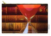 Hourglass And Old Books Carry-all Pouch