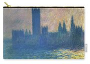 Houses Of Parliament, Sunlight Effect - Digital Remastered Edition Carry-all Pouch