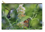 Hummingbird And Monarch Carry-all Pouch