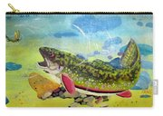 Hungry Trout Carry-all Pouch by Clyde J Kell