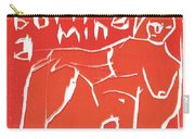 I Was Born In A Mine Woodcut 56 Carry-all Pouch
