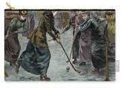 Ice Hockey  Ladies Match On The Lake In Wimbledon Park Carry-all Pouch