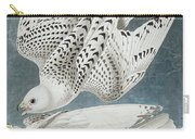 Iceland Falcon Or Jer Falcon By Audubon Carry-all Pouch