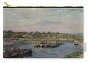 Idle Barges On The Loing Canal At Saint-mammes Carry-all Pouch