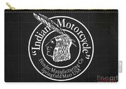 Indian Motorcycle Old Vintage Logo Blueprint Background Carry-all Pouch