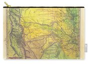 Indian Territory Tribal Map Northern Texas Carry-all Pouch