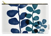 Indigo Eucalyptus 1- Art By Linda Woods Carry-all Pouch