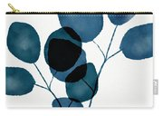 Indigo Eucalyptus 3- Art By Linda Woods Carry-all Pouch