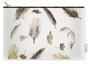 Inner Nature Feathers And Leaves Carry-all Pouch by Bri Buckley