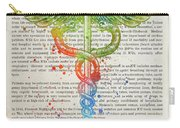 Intensive Care Unit Gift Idea With Caduceus Illustration 03 Carry-all Pouch