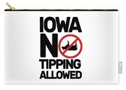 Iowa No Tipping Allowed Funny Cow Joke Sarcastic Carry-all Pouch
