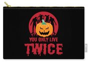 Jackolantern Scary Ghost Zombie Pumpkin Halloween Dark Carry-all Pouch
