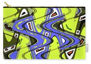 Janca Yellow And Blue Wave Abstract, Carry-all Pouch