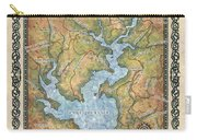 Jocossee Lake Map Custom Lake House Art Carry-all Pouch