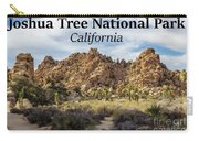 Joshua Tree National Park Box Canyon, California Carry-all Pouch