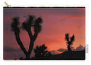 Joshua Trees Silhouetted Against A Red Sky Carry-all Pouch