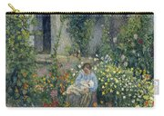 Julie And Ludovic-rodolphe Pissarro Among The Flowers, 1879 Carry-all Pouch
