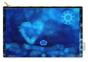Kaleidoscope Moon For Children Gone Too Soon Number - 4 Cerulean Valentine  Carry-all Pouch