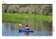 Kayaker In The Wild Carry-all Pouch