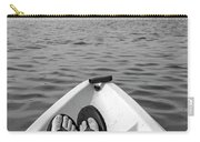 Kayaking In Black And White Carry-all Pouch