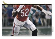 Khalil Mack Chicago Bears Abstract Art 1 Carry-all Pouch