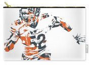 Khalil Mack Chicago Bears Pixel Art 30 Carry-all Pouch