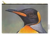King Penguin Portrait By Alan M Hunt Carry-all Pouch by Alan M Hunt
