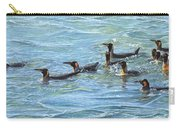 King Penguins Swimming Carry-all Pouch by Alan M Hunt
