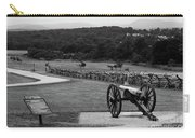 King William Artillery Marker In Black And White Gettysburg Carry-all Pouch