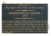 Kirkpatrick Chapel - Commemorative Plaque Carry-all Pouch