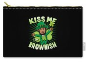 Kiss Me Im Brownish Black Leprechaun St Patricks Day Carry-all Pouch