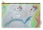 Koala With Baby - Pastel Wildlife Painting Carry-all Pouch
