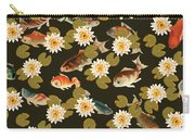 Koi And Lily Pads In Dark Water Carry-all Pouch