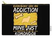 Komondor Funny Dog Addiction Carry-all Pouch