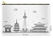 Kyoto Cityscape Travel Poster Carry-all Pouch