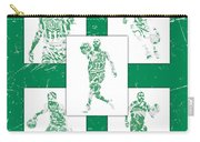 Kyrie Irving Boston Celtics Panel Pixel Art 1 Carry-all Pouch