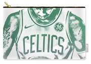 Kyrie Irving Boston Celtics Water Color Pixel Art 30 Carry-all Pouch